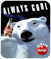 COCA COLA BEAR MOUSE PAD 1/4 IN. FOOD BEVERAGE MOUSEPAD