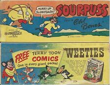 WEETIES AUSTRALIA RARE CEREAL MINI GIVEAWAY PROMO MERRY MELODIES SOURPUSS VG+