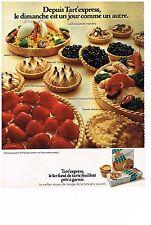 PUBLICITE  1971   TART'EXPRESS  fond de tarte feuilleté pour tous les jours de l
