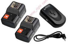 Wireless Remote Flash Transceiver Trigger 2 Receiver for Canon NIKON DSLR CAMERA