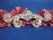 SEQUIN BEADED CROWN MOTIF APPLIQUE 0044-E