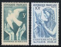 France 1946 MNH Mi 763-764 Sc 566-567 Peace Conference of Paris.Dove,pigeon **