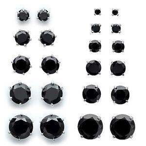 Rings' Ears Man DIAM'S Zircon Black on Silver Any Size