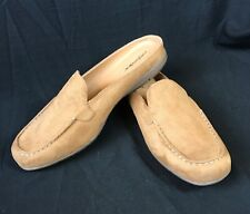 Comfortview Giselle Camel Suede Mule Shoes Size 11 W NEW 05012