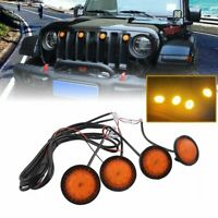 4PCS  LED Amber Grille Lights yellow light For 2018-2020 Jeep Wrangler JL  EA