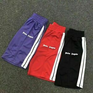 Palm Angels rainbow edge shorts couples casual sports quick-drying short pants*