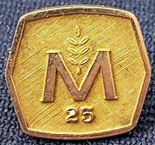 VINTAGE - MOLSON BREWERY - 25 YEARS OF SERVICE - 14k GOLD PIN - BIRKS - ORIGINAL
