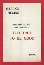 "Alastair Sim ""TOO TRUE TO BE GOOD"" June Ritchie / Bernard Shaw 1965 London"