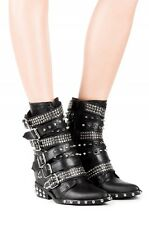 Jeffrey Campbell Draco Studded Booties Boots SZ 9 SOLD OUT Moto Biker Spike Punk