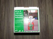 "CHRISTMAS AIRBLOWN INFLATABLE 48"" SNOWMAN NEW SEALED PRESENT NIB"
