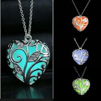 Charm Women Magical Fairy Glow in the Dark Locket Luminous Pendant Necklace Hot