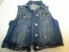 Aeropostale Girls Size S P Youth  Denim Jean Waist Vest Distressed