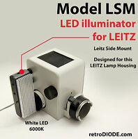 LED illuminator retrofit Kit with dimmer control for older LEITZ microscopes.
