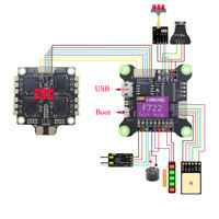 HAKRC F722 Flight Control 5V 9V Dual BEC Built-in OSD 3-9S for DIY RC Drone