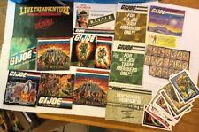 Hasbro GI Joe Cobra ARAH inserts posters mail aways brochures Catalogs Lot