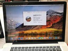 Apple MacBook Pro 15 in, 2.6 GHz i7 16 GB Ram 500 GB SSD & 750 GB HD, Windows OS