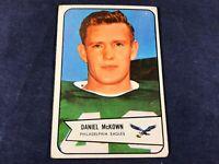 V3-10 FOOTBALL CARD - DANIEL McKOWN PHILADELPHIA EAGLES - 1954 BOWMAN - CARD #93