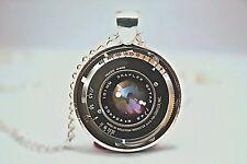 Cúpula de vidrio cabujón con colgante collar cadena Gótico Steampunk un diseño de lente de cámara