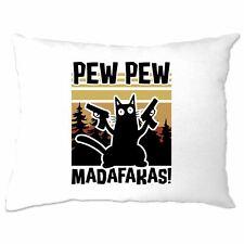 Pew Pew Madafakas Pillow Case Action Cat Rude Slogan Meme
