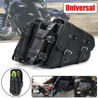 Left & Right Motorcycle Side Saddle Bag Saddlebag For Sportster Models AU