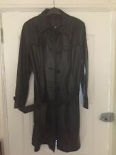 Ladies Full Length Leather Coat Small 16 Size.