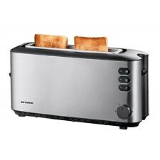 Severin AT 2515 Edelstahl-Schwarz Toaster wärmeisoliertes Gehäuse 1000 Watt