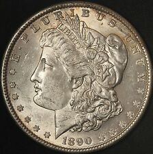 1890 Morgan Silver Dollar - Attractive BU Coin - Great Luster - Free Shipping US