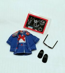 Kelly Doll Clothes School Dress Jacket Shoes Glasses + Accessories Mattel New