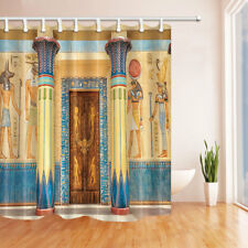 Egypt Temple Palace Gate Waterproof Fabric Bathroom Shower Curtain 71Inch