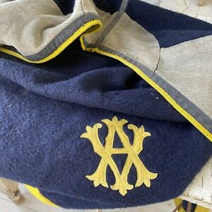 Antique vintage Horse blanket + Hood Equestrian tack with monogram French