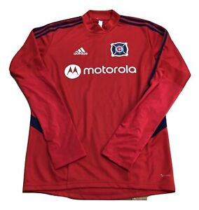 Adidas MLS Chicago Fire Training Top Red/Navy DP4961