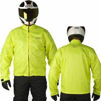 HELD FLOOD Motorrad-Regenkombi neongelb reflektierend Weitenverstellung Stretch
