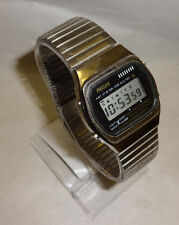 Vintage Rare Phasar Digital Alarm Chronograph Multi Function Watch SS Band