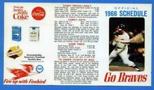 1966 ATLANTA BRAVES Pocket Schedule