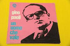 """7"""" SOLO COPERTINA SENZA DISCO GINO PAOLI UN UOMO CHE VALE ORIG '60 EX"""