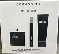 BEST OF BOOK Commodity SEALED FRAGRANCE 3 PC SET Lotion TRAVEL SPRAY EDP Candle