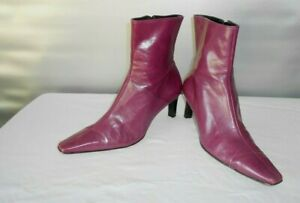 Women's Sandler Mauve Leather Fall Fashion Ankle Boots Size 8.5 B