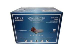 Disposable Vinyl Gloves - Medium - Case of 1000 - Kuki Collection