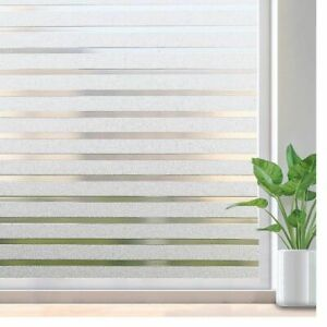 Frosted Window Sticker Film Striped Decal Non-Adhesive Privacy Vinyl Glass Tools