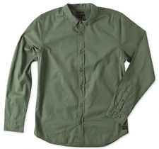 O'Neill PACIFICA Mens Long Sleeve Button Up Shirt Army Green NEW