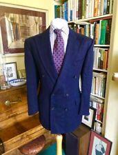 John Bray of Jermyn Street Bespoke Cashmere Blend Double Breasted Checked Jacket