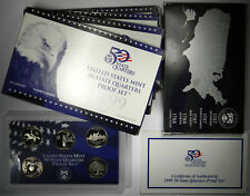 1999 STATE QUARTERS 5-COIN CLAD PROOF SETS ~ GROUP OF 5 SETS ~ 25 TOTAL COINS!