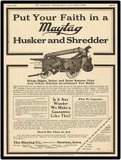 "1918 MAYTAG HUSKER AND SHREDDER  9/"" x 12/"" Sign"