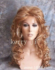 Hot Sell Fashion Wig New Charm Women's Long Brown Mix Blonde Curly Full Wigs