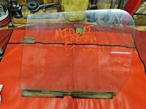 MG Midget, Austin Healey Sprite, Left Door Window Glass, Triplex, Original,  !!