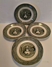 Old Curiosity Shop Royal Saucer Plate Lot of 4 Coffee Pot