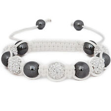 Iced Out Unisex Bracelet - STRONG SHAMBALLA blanc
