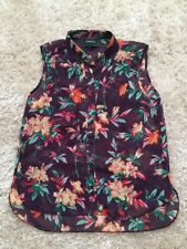 Ladies River Island Sheer Floral Sleeveless Blouse Top Shirt Size 10