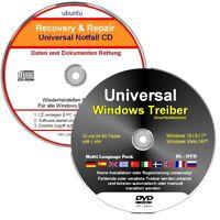 Windows Treiber + Notfall CD  ✔ 2 CD Set - Universal Treiber & Daten Rettung
