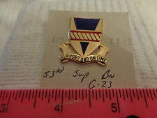 53rd Support Battalion G-23 Unit Crest, DI, DUI (DRAW#L5)